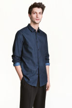 Shirt Slim fit - Dark blue - Men | H&M CN 1