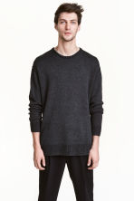 Wool-blend jumper - Black marl - Men | H&M CN 1