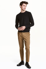 Cropped suit trousers - Dark beige - Men | H&M CN 1