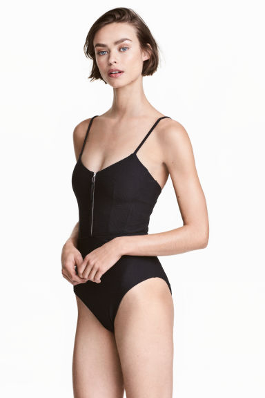 Textured swimsuit Model