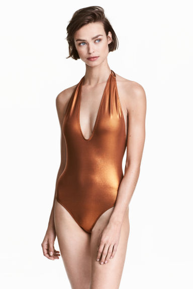 Halterneck swimsuit - Copper - Ladies | H&M CN 1