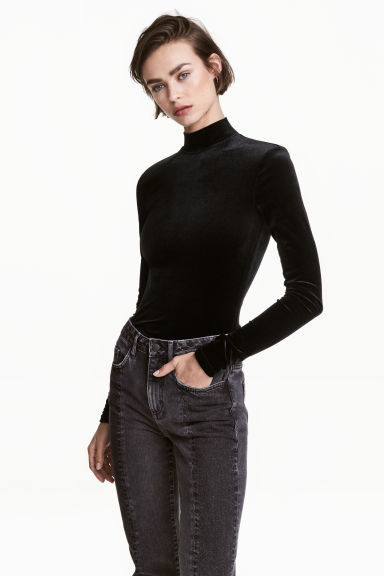Body in velour - Nero - DONNA | H&M IT 1