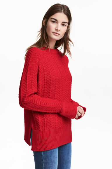 Knitted jumper - Red - Ladies | H&M GB 1