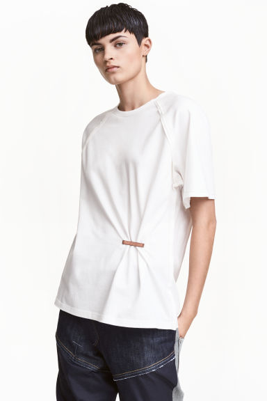 Katoenen top - Wit - DAMES | H&M BE