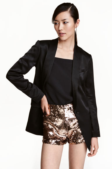 Sequined shorts - Gold - Ladies | H&M CN 1
