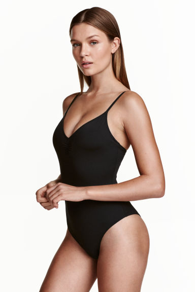 V-neck swimsuit