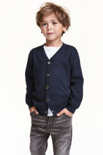 Pima cotton cardigan - Dark blue - Kids | H&M CN 1