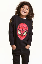 Felpa con stampa - Nero/Spiderman - BAMBINO | H&M IT 1