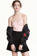 Jersey strappy top - Powder pink -  | H&M CA 2