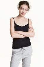 Jersey strappy top - Black - Ladies | H&M 2