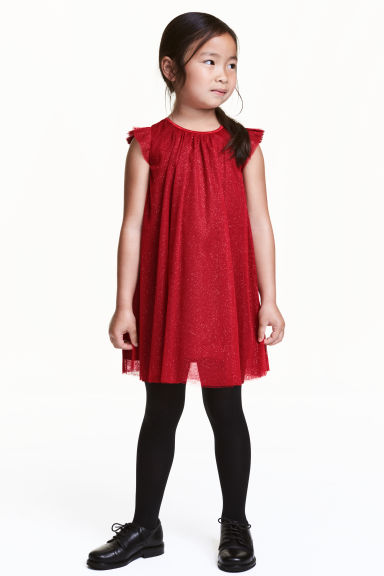 Tulle dress - Red/Glitter - Kids | H&M CN 1