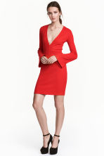 V-neck jersey dress - Red - Ladies | H&M CN 1