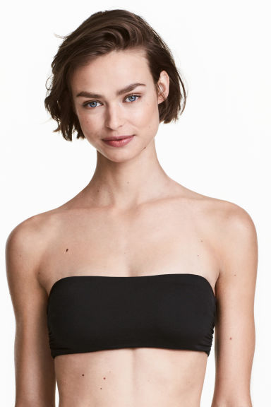 Bandeau bikini top - Black - Ladies | H&M CN 1