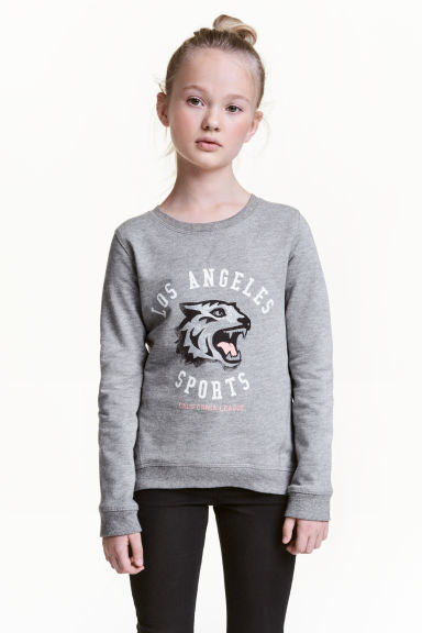Printed sweatshirt - Grey/Los Angeles -  | H&M 1