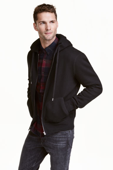 Hooded jacket - Black - Men | H&M CA 1