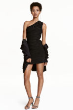 One-shoulder dress - Black/Silver - Ladies | H&M CN 1