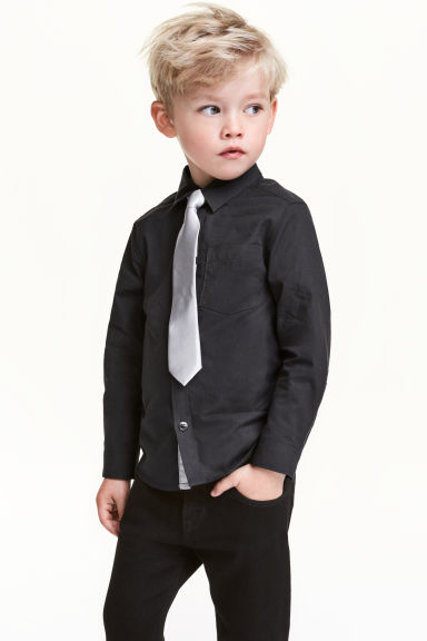 Shirt with bow tie/tie - Translucent - Kids | H&M CN 1
