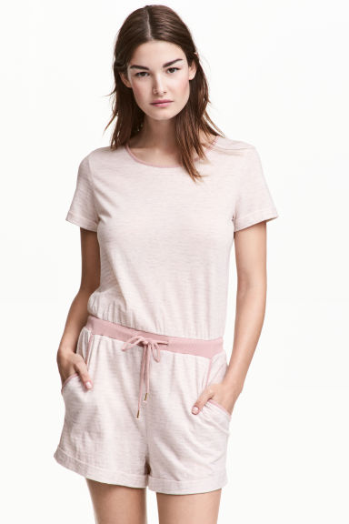 All-in-one pyjamas - Light pink/Striped - Ladies | H&M 1