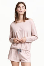 Pyjamas with top and shorts - Pink marl - Ladies | H&M CN 1