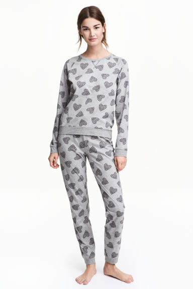 Pyjamas - Grey/Heart -  | H&M 1