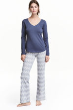 Pyjamas - Dark blue/Zigzag - Ladies | H&M 1