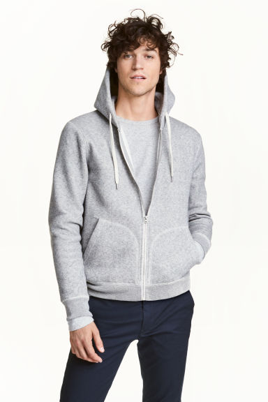 Hooded jacket - Grey marl - Men | H&M