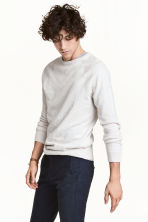 Fine-knit jumper - Natural white marl - Men | H&M CN 1