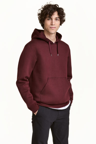 Hooded top - Burgundy - Men | H&M 1