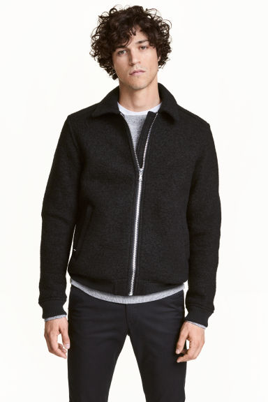 Wool-blend jacket - Black - Men | H&M CN
