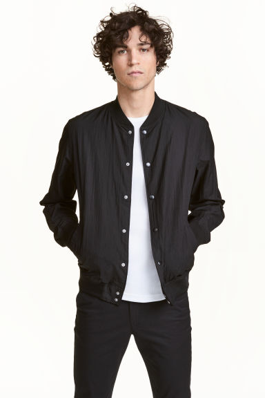 Nylon bomber jacket - Black - Men | H&M CN 1