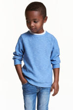 Purl-knit jumper - Blue marl -  | H&M CN 1