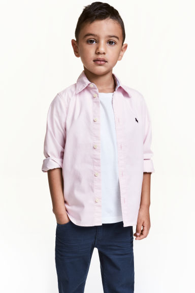 Cotton shirt - Light pink - Kids | H&M 1