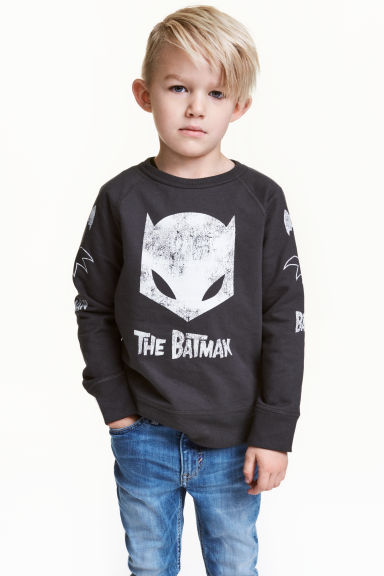 Printed sweatshirt - Dark grey/Batman - Kids | H&M 1