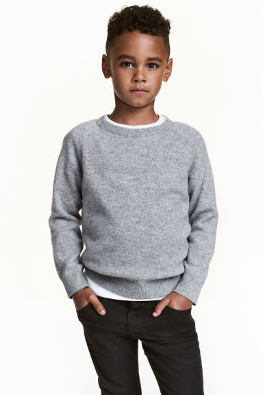 Cashmere jumper - Dark grey marl - Kids | H&M
