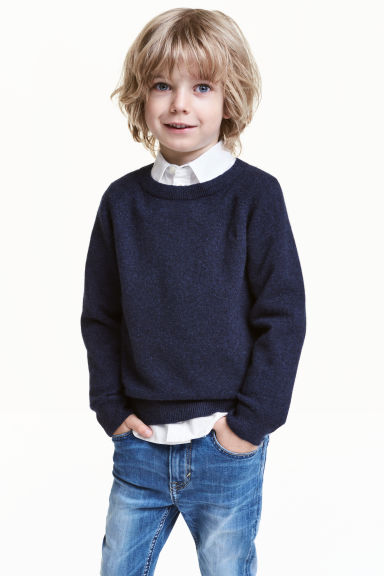 Cashmere jumper - Dark blue - Kids | H&M CN 1