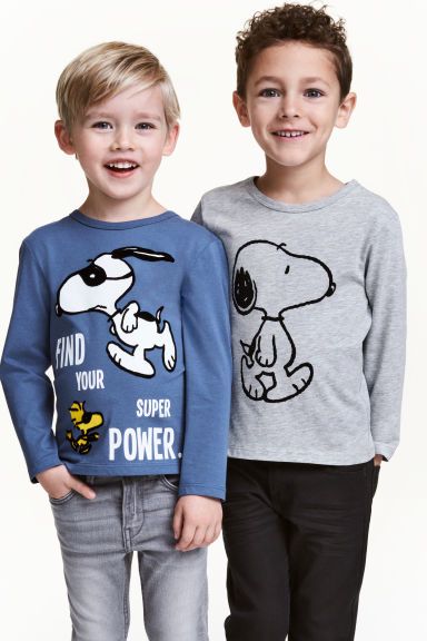 Lot de 2 T-shirts - Bleu/Snoopy -  | H&M FR 1