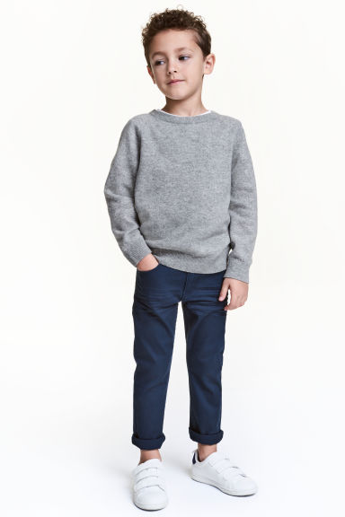 Pantaloni stretch Slim fit - Blu scuro - BAMBINO | H&M IT 1