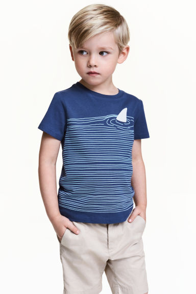 Printed T-shirt - Blue - Kids | H&M CN 1