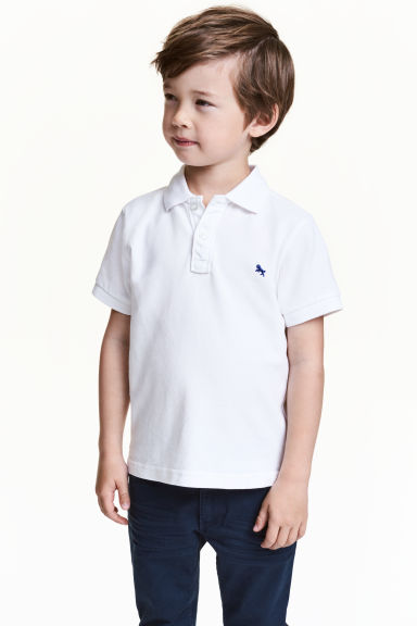 Polo shirt - White - Kids | H&M