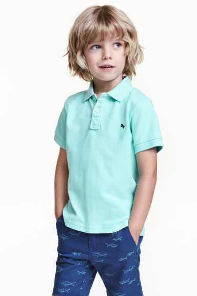 Polo in piqué - Verde menta - BAMBINO | H&M IT