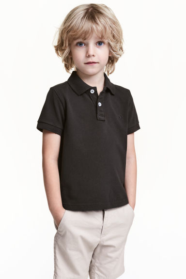 Polo shirt - Black - Kids | H&M