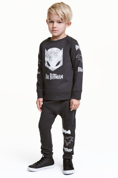 Joggers - Dark grey/Batman - Kids | H&M CN 1