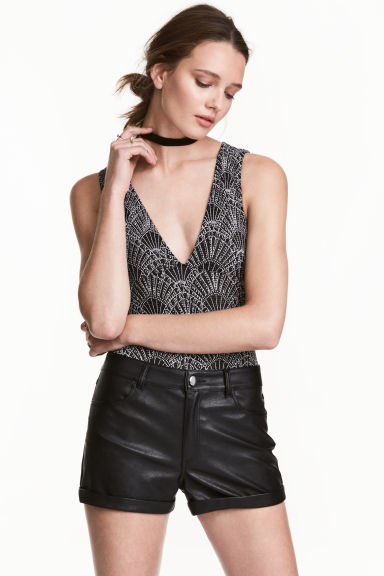 Glittery body - Black/Glitter - Ladies | H&M CN 1