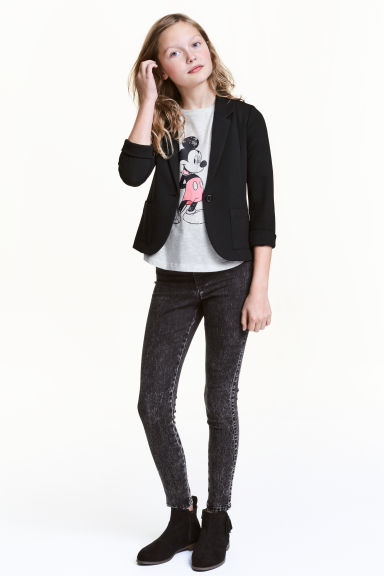 Treggings High waist - Black washed out - Kids | H&M 1