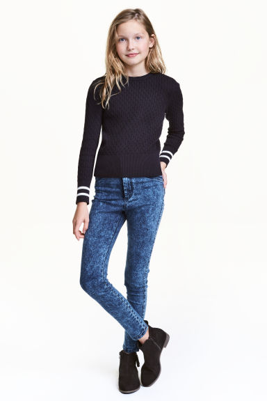 Treggings High Waist - Blau washed out - KINDER | H&M CH 1
