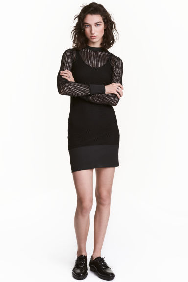 Mesh dress - Black - Ladies | H&M CN 1