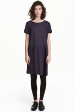 Long T-shirt - Dark blue - Ladies | H&M CN 1