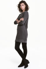 Sweatshirt dress - Black washed out - Ladies | H&M CN 1