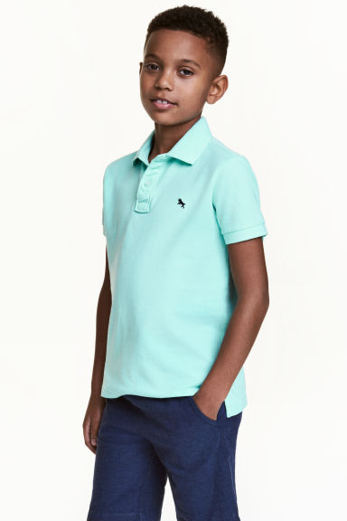 Polo in piqué - Verde menta -  | H&M IT 1