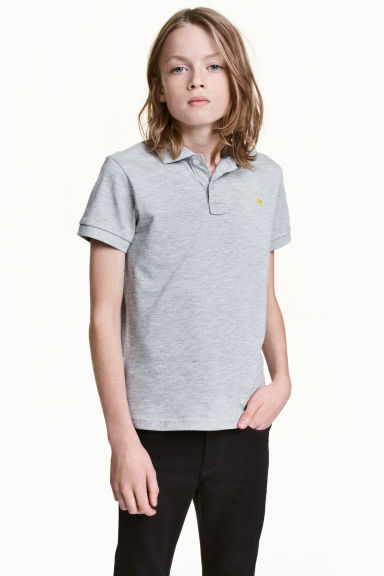Polo in piqué - Grey - BAMBINO | H&M IT 1